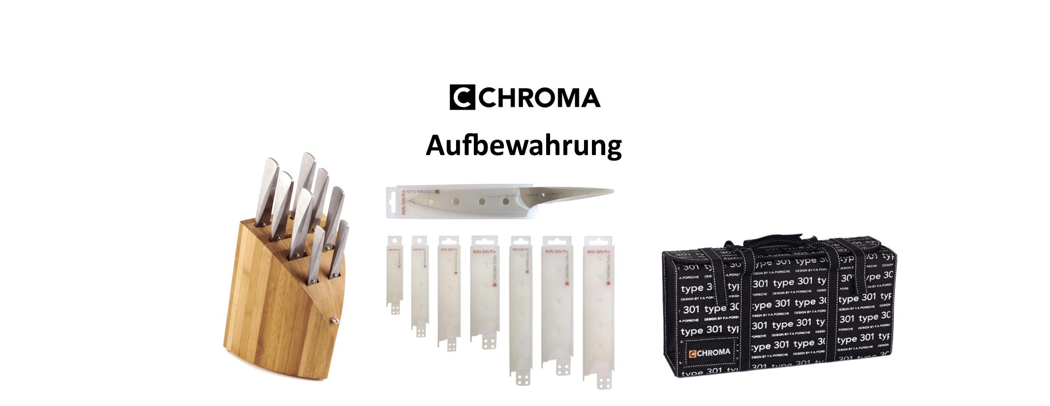 CHROMA Aufbewahrung Messerblock Messertasche Klingenschutz