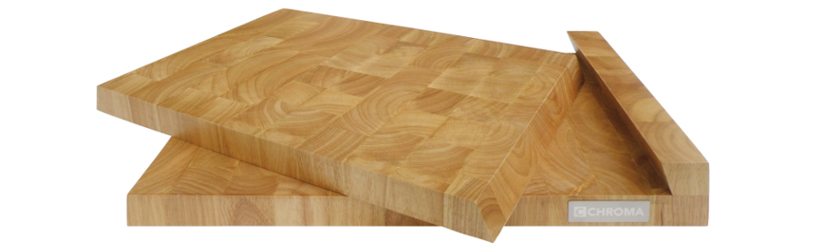 CHROMA Butcher Board Set Schneidebrett Schneidunterlage Guminoki CB-03